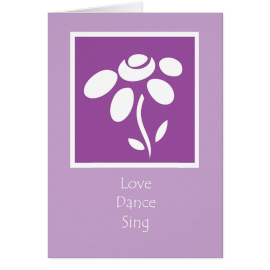 love dance sing card