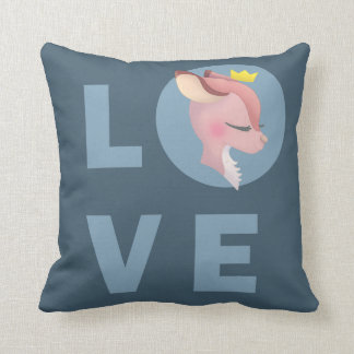 Love Deer Throw Pillow