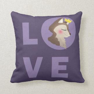 Love Deer Throw Pillow