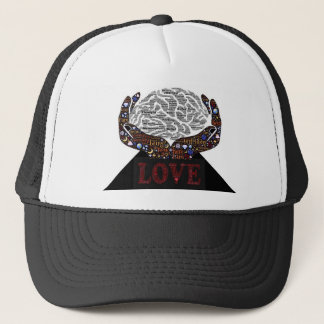 Love described in many words trucker hat
