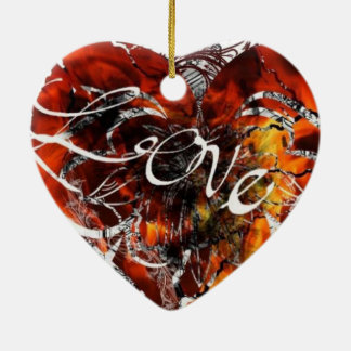 Love Design By Nathan Robert Simonson Ceramic Ornament