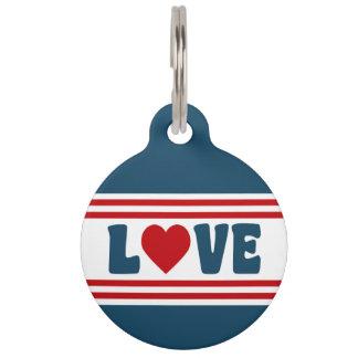 Love design pet name tag