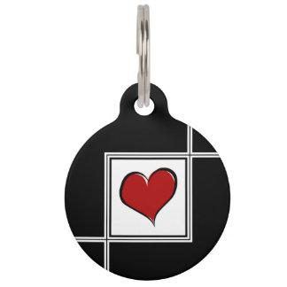 Love design pet tag