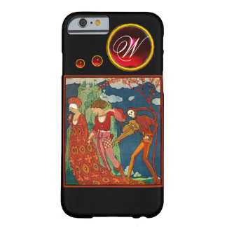 LOVE ,DESIRE AND DEATH RED GEM STONE MONOGRAM BARELY THERE iPhone 6 CASE