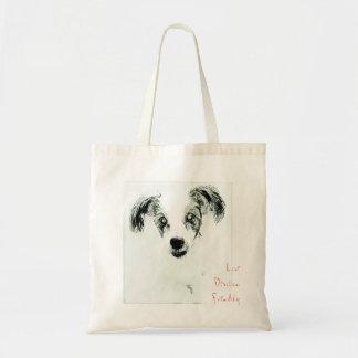 Love, Devotion, Friendship Dog Sketch Tote Bag