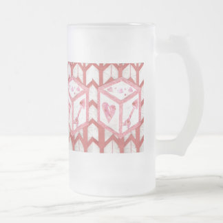 Love Dice Frosted Jug Frosted Glass Beer Mug
