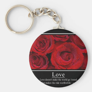 Love Doesn t Make the World Go Round Poster Keychains