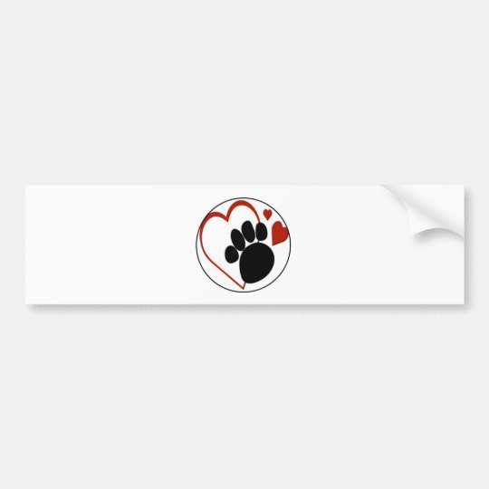 love dog paw bumper sticker