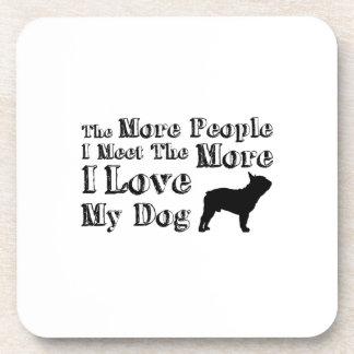 Love Dog Paw Pet Funny  I Love My Dog Coaster