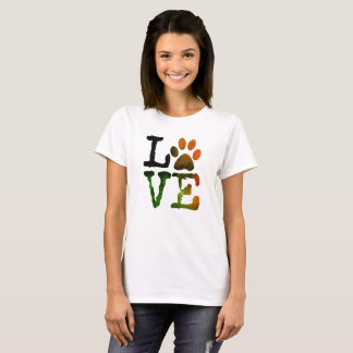 LOVE, Dog Paw Print Shirt