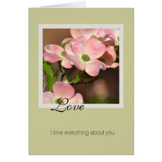 Love Dogwood Flowers Card