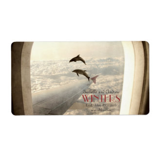 Love Dolphins address label
