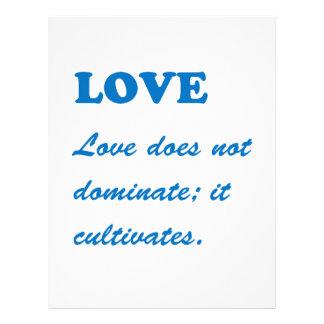 LOVE dominates cultivates ROMANCE FAMILY MARRIAGE Letterhead