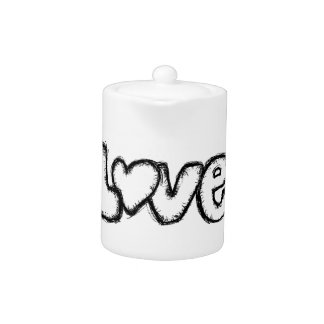 love doodle black white simple modern
