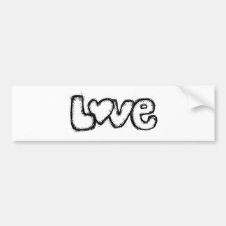 love doodle black white simple modern bumper sticker