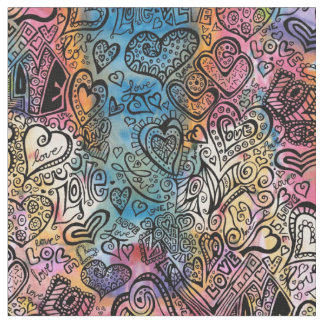 Love Doodle Fabric