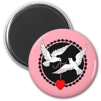 Love Doves 2 Inch Round Magnet