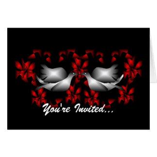 Love Doves Blank Invitation Stationery Note Card