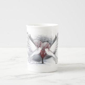 Love Doves Bone China Mug