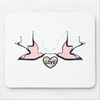 Love Doves Full Design Mouse Pad