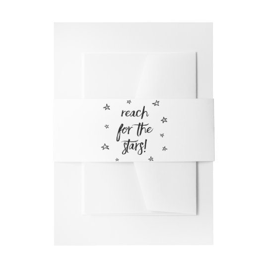 Love Dreams Motivational Quote Black White Wedding Invitation Belly Band