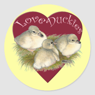 Love Duckies Round Sticker