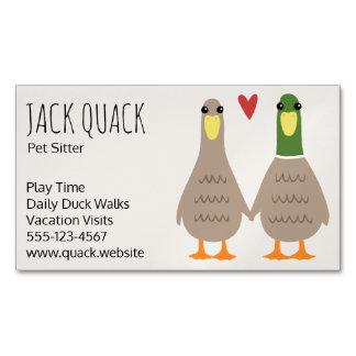 Love Ducks Business Card Magnet