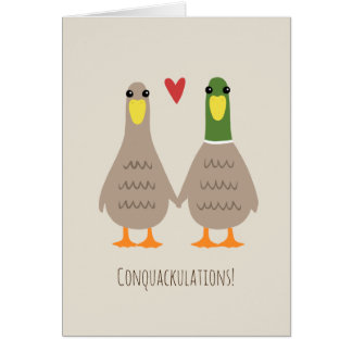 Love Ducks Wedding Congratulations Card