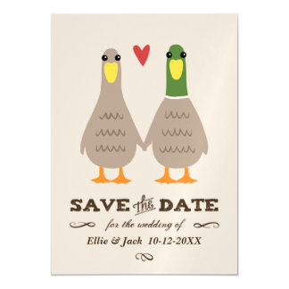 Love Ducks Wedding Save the Date Magnetic Card