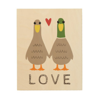 Love Ducks Wood Canvases