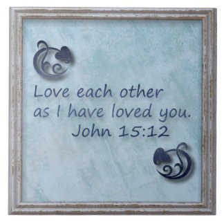 Love Each Other Bible Verse Tile