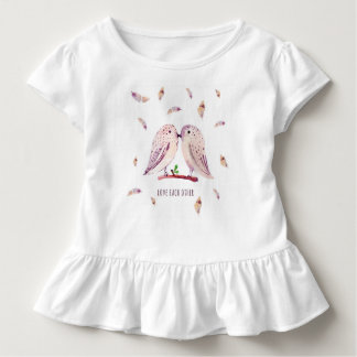 Love Each Other | Toddler Ruffle Tee