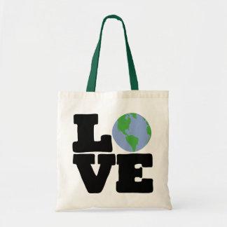 Love Earth (black text) Tote Bag