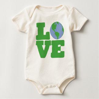 LOVE Earth (green text) Romper