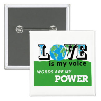 LOVE EARTH - LOVE IS MY VOICE BUTTON