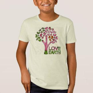 Love Earth pink tree hearts organic cotton t-shirt