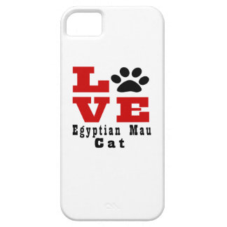 Love Egyptian Mau Cat Designes Case For The iPhone 5