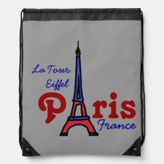 love Eiffel Tower Paris Cinch Bag