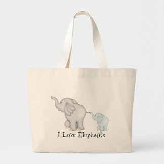 Love Elephants tote bag