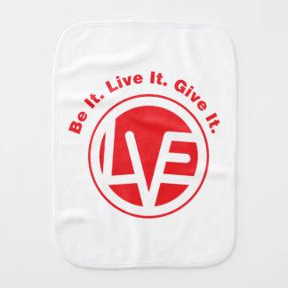 Love Emblem Burp Cloth