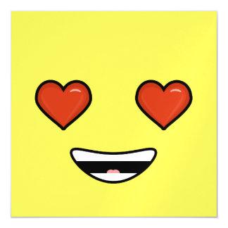 Love Emoji Magnetic Invitations