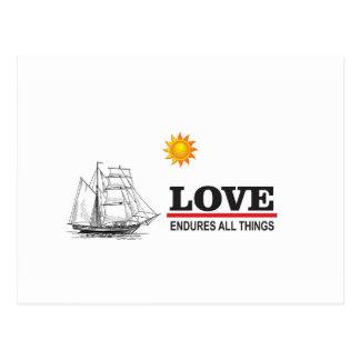 love endures all things postcard
