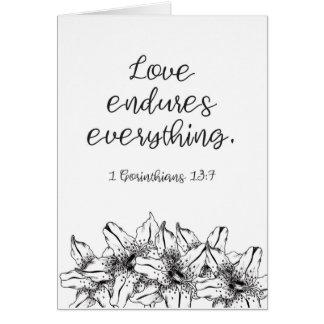 Love Endures Everything Card