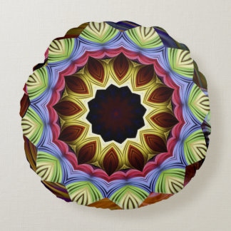 Love Energy Mandala Round Pillow