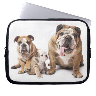 Love English Bulldog Puppy Dog Laptop Sleeve Case