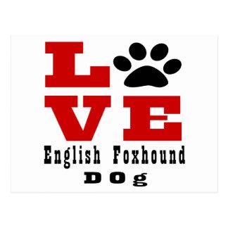 Love English FoxhoundDog Designes Postcard