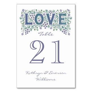 Love Entwined Wedding Table Card