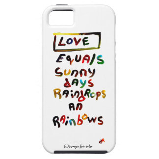 love equals iPhone 5 cover
