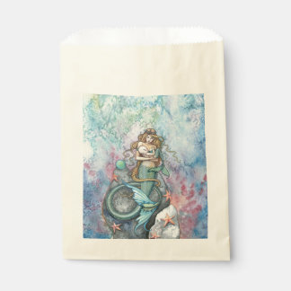 Love Eternal Mother and Baby Mermaids Fantasy Art Favour Bag