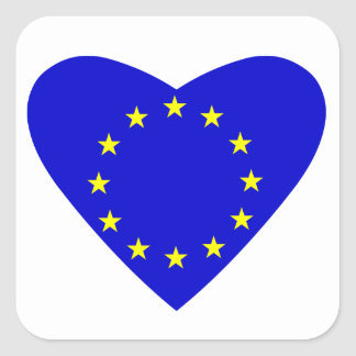 Love Europe Square Sticker